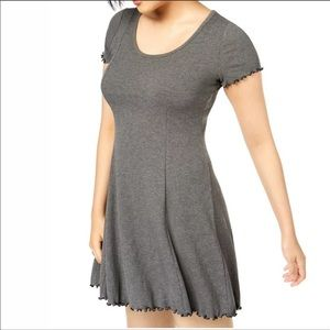 BAR III Fit and Flare Dress Heather Gray Lg NWT